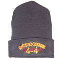 Intercourse Fire Company black knit hat
