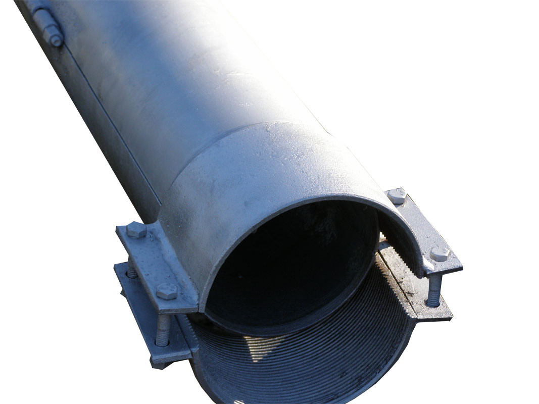 Split steel conduit