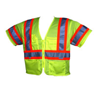 "Class 3 Safety Vest ""Zipper"" w/Stripes"