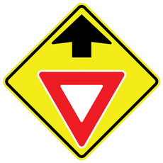 FED W3-2 Yield Ahead Warning Sign