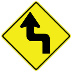 FED W1-3L Reverse Turn Left Warning Sign