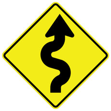FED W1-5R Winding Road Right Warning Sign