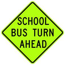 FED S3-2 School Bus Turn Ahead (text)