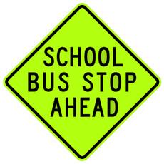 FED S3-1 School Bus Stop Ahead