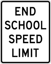 S5-3 End School Speed Limit Sign