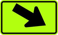 W16-7PR Right Diagonal Arrow