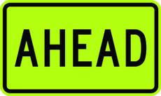 W16-9P AHEAD School Sign