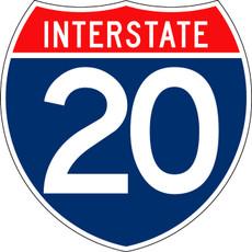 M1-1-2 Interstate Shield 2 Digit Sign