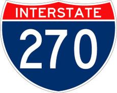 M1-1 Interstate Shield 3 Digit Sign