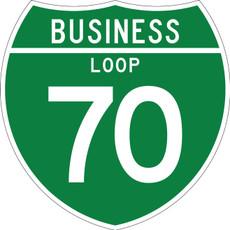 M1-2 Business Loop Shield 2 Digit Sign