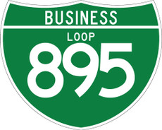 M1-2 3 Digit Business Loop sign White on Green
