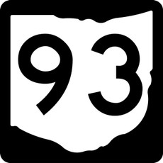 M1-5 State Route Marker Sign Black on White