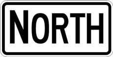 M3-1 NORTH Route Marker Sign Black on White