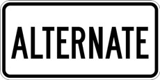 M4-1 ALTERNATE Route Maker Sign Black on White