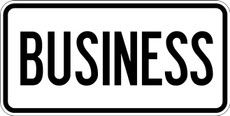 M4-3 BUSINESS Router Marker Sign Black on White
