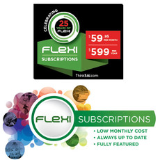 Flexi Subscription. 2 Price points.  Give us a call today.