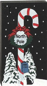 North Pole Candy Cane Sign