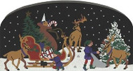 Cat's Meow Village Christmas North Pole Elves Packing the Sleigh #2973 NEW Snow