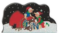 Cat's Meow Village Christmas North Pole Packing Santa's Bag #13-924 Glitter