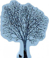 Winter Glitter Tree Shelf Sitter Wood
