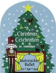 Cat's Meow Village NUTCRACKER Christmas Ballet Billboard Sign #02-833 NEW