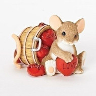 "Charming Tails Mouse Figure Valentine's ""I LOVE You A Whole Bushel"" #19381 NIB"