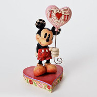 ENESCO Jim Shore Disney Mickey with Heart Balloon I Heart You #4026087 NEW Box
