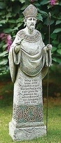 "Joseph's Studio 26.5"" St. Patrick Garden Statue Protection Prayer #65984 NEW"
