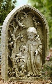 "Joseph's Studio ROMAN Child 10"" St Francis Assisi Garden Stone Statue #47447"