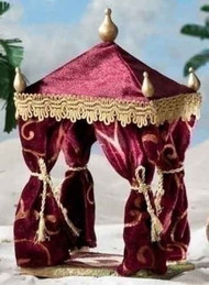 ROMAN FONTANINI Nativity 2PC Wiseman King Tent Burgundy Red #55567 NEW NIB