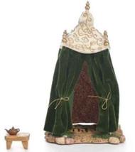 ROMAN FONTANINI Nativity 2PC Wiseman King Tent Green #55568 NEW NIB