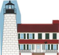 Cat's Meow Village Shelf Sitter - Chesapeake Bay Maryland Turkey Point Lighthouse #1972