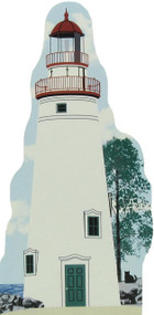 Cat's Meow Village Shelf Sitter - Great Lakes Ohio Marblehead Lighthouse R150