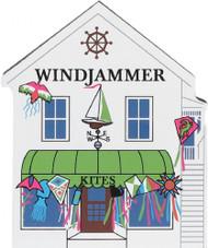 Cat's Meow Village Wooden Shelf Sitter Keepsake Barefoot Shores Windjammer Kites Store #01-611