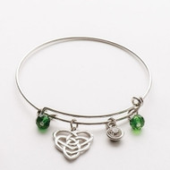 ROMAN Expandable Wire Charm Motherhood Bracelet  #10238