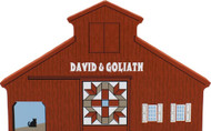 David & Goliath Quilt Barn, Cat's Meow Village Shelf Sitter