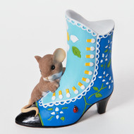 "Charming Tails Mouse FREINDSHIP ""A Beautiful Sole is Always In Fashion"" #4025770"