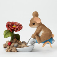 "Charming Tails Mouse FRIENDSHIP ""Bloom Wherever You're Planted"" 4043861"