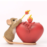"Charming Tails LOVE ROMANCE ""You've Lit A Fire In My Heart"" Figure 4035253"