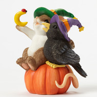 "Charming Tails Mouse Figure HALLOWEEN ""The Magic of FRIENDSHIP Helps Us Crow Closer"" 4046777"