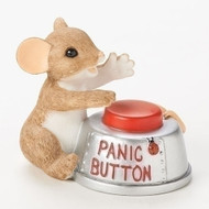 "Charming Tails Mouse ""Don't Panic!"" #19373"