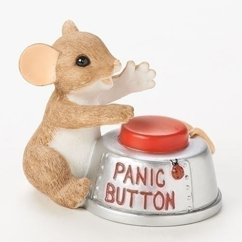 """Charming Tails Mouse """"Don't Panic!"""" #19373"""