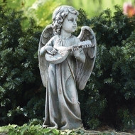 Garden Art Statue Angel playing guitar, 3#66262