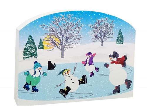 Cat's Meow Village Winter Skating Snowmen  #17-232