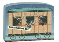 Cat's Meow Village North Pole Limited Reindeer Car #17-926