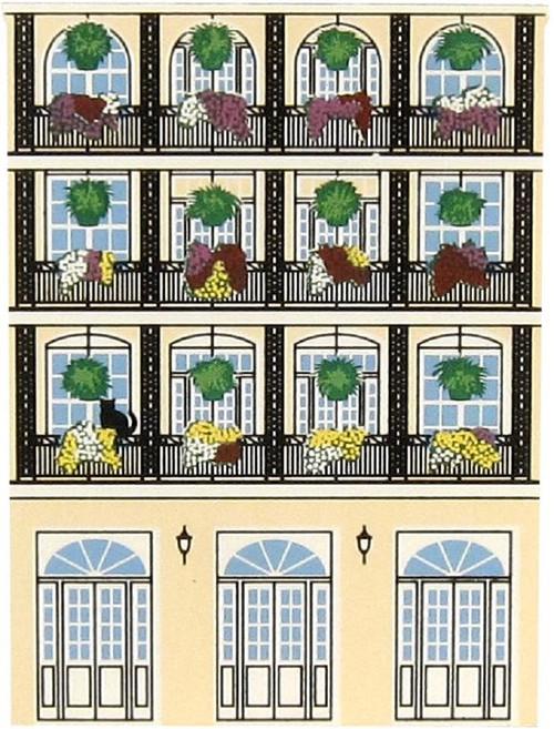 NOLA French Quarter Balcony, Cat's Meow Village
