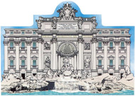 Cat's Meow Village Keepsake Trevi Fountain Italy #R944
