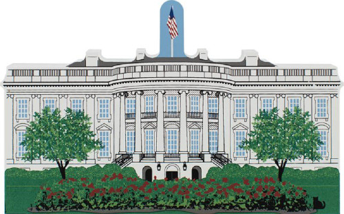 Cat's Meow Village The White House #RA133
