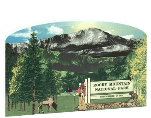 Cat's Meow Village Rocky Mountain National Park Scene Keepsake #RA973