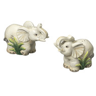 Sadek Figural Elephant Salt and Pepper Shakers